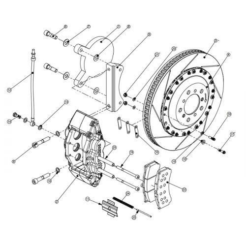 AP RACING big brake kit for BMW M3 4 0 E92 6 pistons 378 x 36 front black
