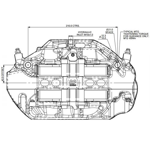 AP RACING CP9665 6 piston brake calipers - PRO 5000 R sur