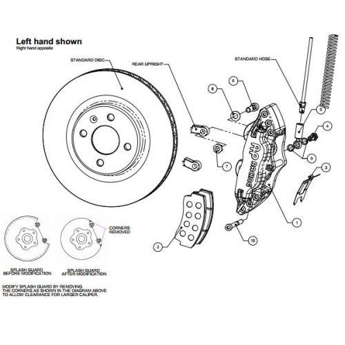 AP RACING Rear Big Brake Kit for BMW M3 E36 or Z3 4 pistons Black