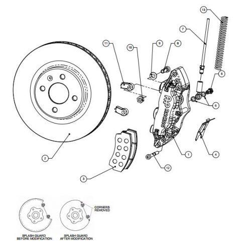 AP RACING Rear Big Brake Kit for BMW M3 E46 4 pistons Black