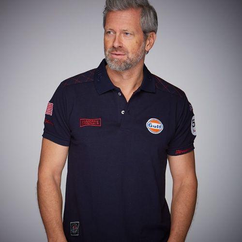 42b620703 GULF M. Delaney men's polo shirt - Navy blue